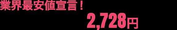 業界最安値宣言!月額費用がなんと2,480円〜!(税抜)