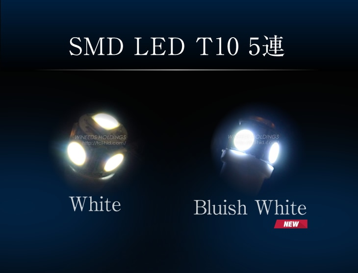 SEM LED T10 5連【White/Clear White[NEW]/Bluish White[NEW]】