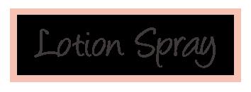 lotion spray