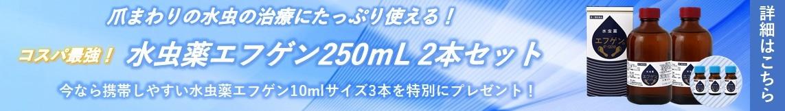 水虫薬エフゲン250ml2本セット