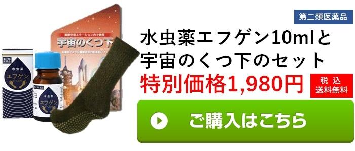 Aコース 宇宙の靴下+10mlエフゲンのセット1,980円(税込み・送料無料)