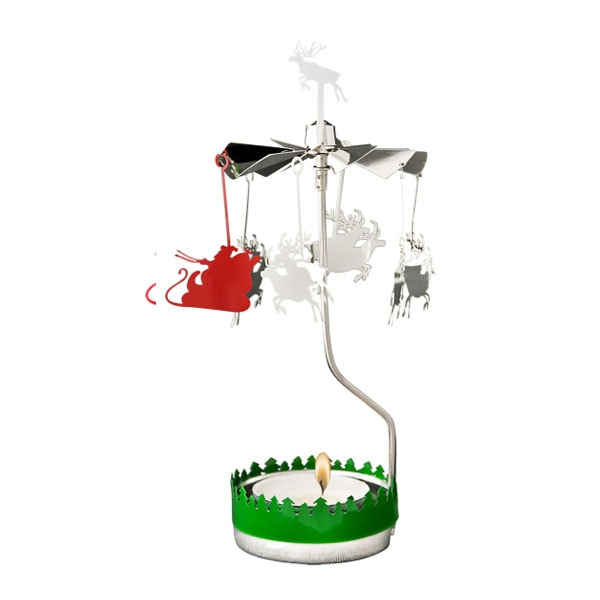 ロータリーキャンドル,クリスマスサンタ