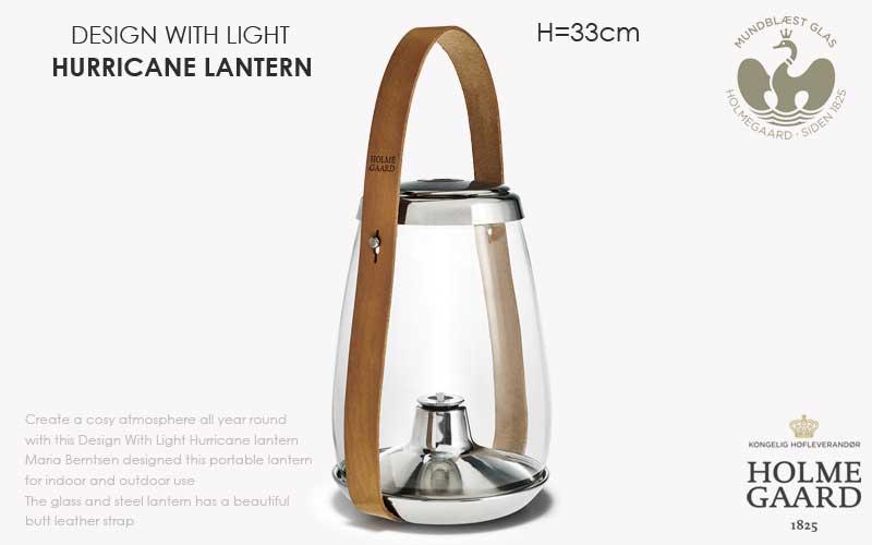 DESIGN WITH LIGHT HURRICANE LANTERN(デザインウィズライト ハリケーンランタン)オイルランタン H=33cm,HOLMEGAARD,ホルムガード,北欧雑貨,北欧インテリア北欧ギフト