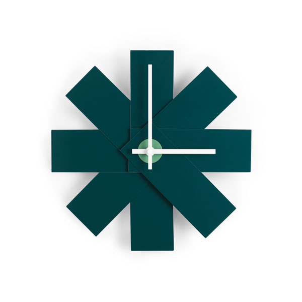watch me wall clock,ペトロールグリーン