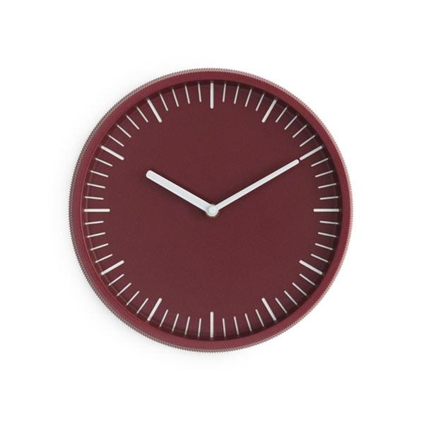 Day Wall Clock,ダークレッド