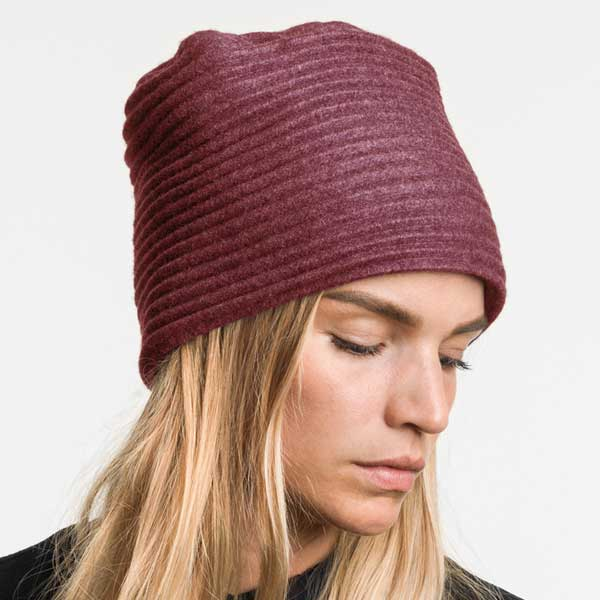 pleece hat,プリース,ハット,ボルドー