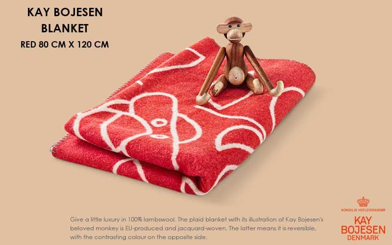 ブランケット・レッド, Kay Bojesen,カイ・ボイスン,木製オブジェ ,デンマーク,北欧,北欧雑貨,北欧インテリア,北欧ギフト