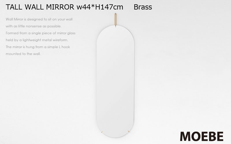 Wall Mirror,ウォールミラ-,真鍮,壁掛けミラー,MOEBE,ムーベ,北欧,デンマーク,北欧雑貨,北欧インテリア,北欧ギフト