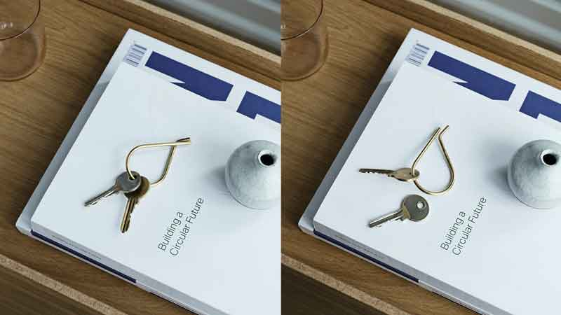Key Ring(キーリング)Brass(ブラス)真鍮,MOEBE,ムーベ,北欧,デンマーク,北欧雑貨,北欧インテリア,北欧ギフト