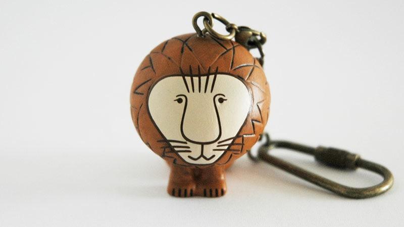 Lisa Larsonリサ・ラーソン/ミニアニマルシリーズ・キーホルダー/ライオン