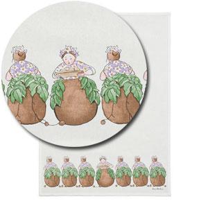 キッチンタオル,ポテト婦人