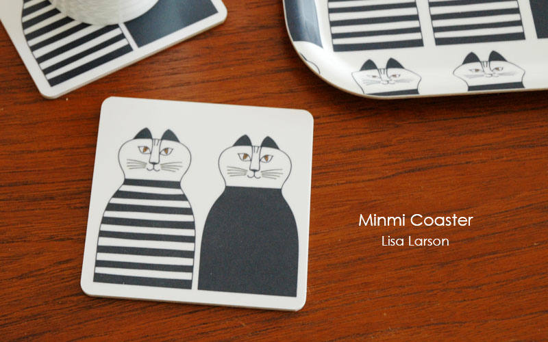 Minmi,ミンミ,Wooden Coaster,lisa larson,リサラーソン,木製コースター,optodesign,北欧雑貨,北欧インテリア,北欧キッチン雑貨