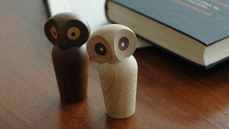 ミニサイズ,owl,アウル,フクロウ,デンマーク木製オブジェ,architrectmade,アーキテクトメイド