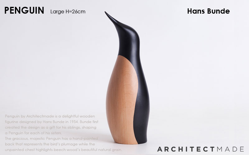 penguin,large,ペンギン,hans bunde,ハンス・ブンデ,デンマーク木製オブジェ,architrectmade,オブジェ,置物,北欧雑貨,北欧インテリア,北欧ギフト