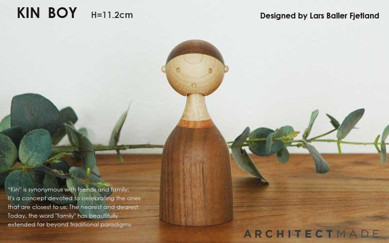 kin,boy,Lars Baller Fjetland,デンマーク木製オブジェ,architrectmade,オブジェ,置物,北欧雑貨,北欧インテリア,北欧ギフト