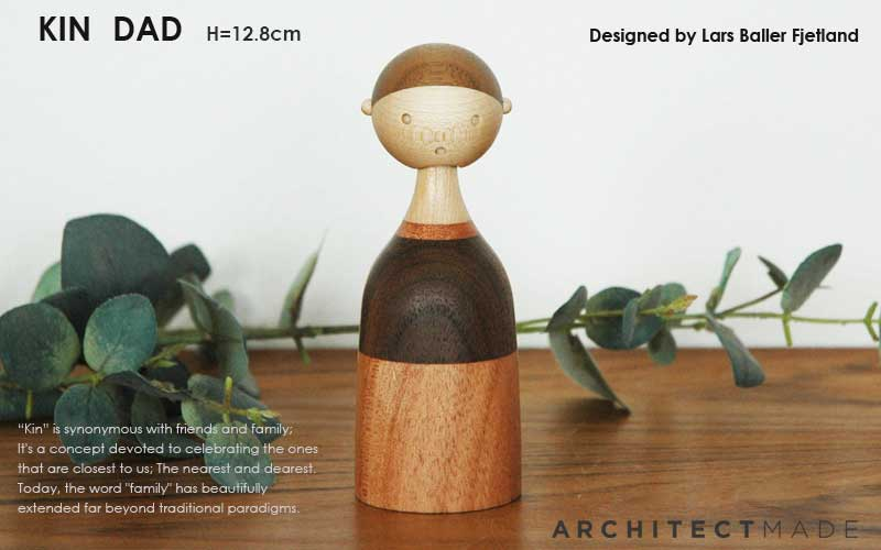 kin,dad,Lars Baller Fjetland,デンマーク木製オブジェ,architrectmade,オブジェ,置物,北欧雑貨,北欧インテリア,北欧ギフト
