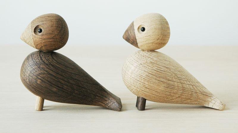 LOVE BIRDS,ペア・ラブバード,Kay Bojesen,カイ・ボイスン,木製オブジェ ,デンマーク,北欧,北欧雑貨,北欧インテリア,北欧ギフト