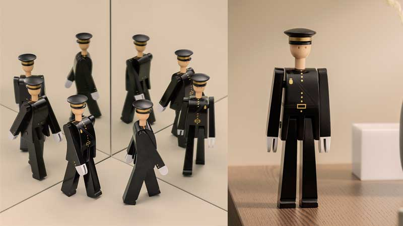 POLICEMAN(ポリスマン)警察官,郵便配達人,Kay Bojesen,カイ・ボイスン,木製オブジェ ,デンマーク,北欧,北欧雑貨,北欧インテリア,北欧ギフト