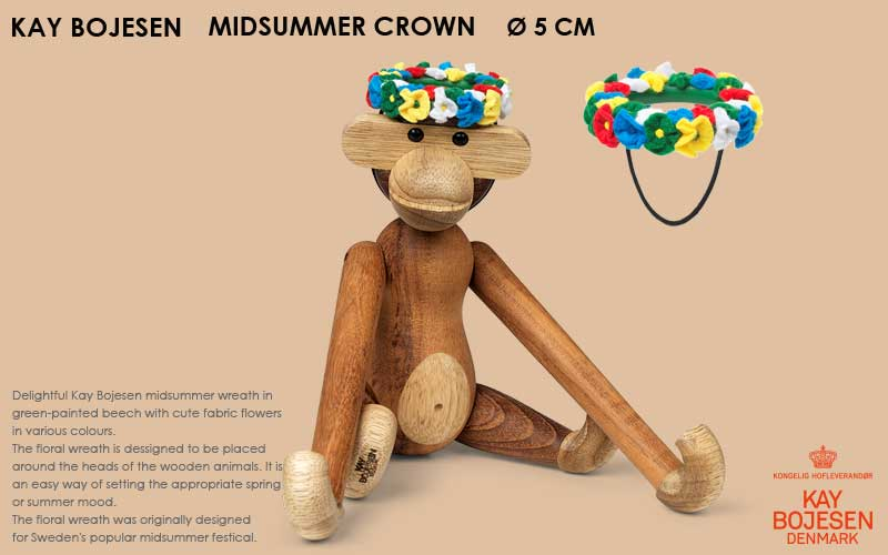 midsummer crown,ミッドサマークラウン, Kay Bojesen,カイ・ボイスン,木製オブジェ ,デンマーク,北欧,北欧雑貨,北欧インテリア,北欧ギフト