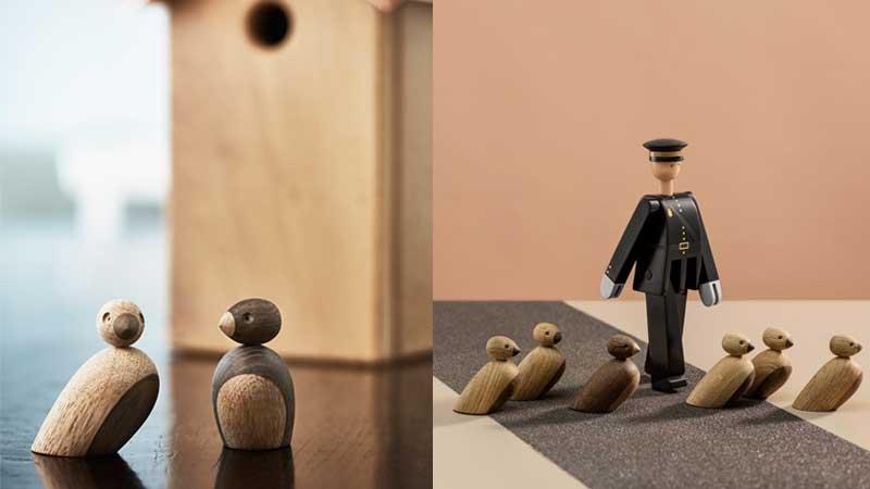 Sparrow(スズメ)ペア・スパローズ,Kay Bojesen,カイ・ボイスン,木製オブジェ ,デンマーク,北欧,北欧雑貨,北欧インテリア,北欧ギフト