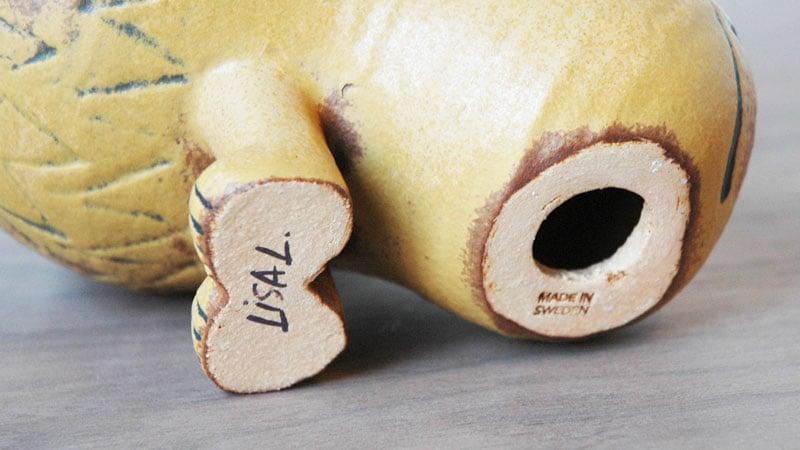 Lionライオン・ミディアムサイズ,裏側,Lisa Larsonリサ・ラーソン,スウェーデン,北欧オブジェ,北欧置物,北欧インテリア,北欧雑貨