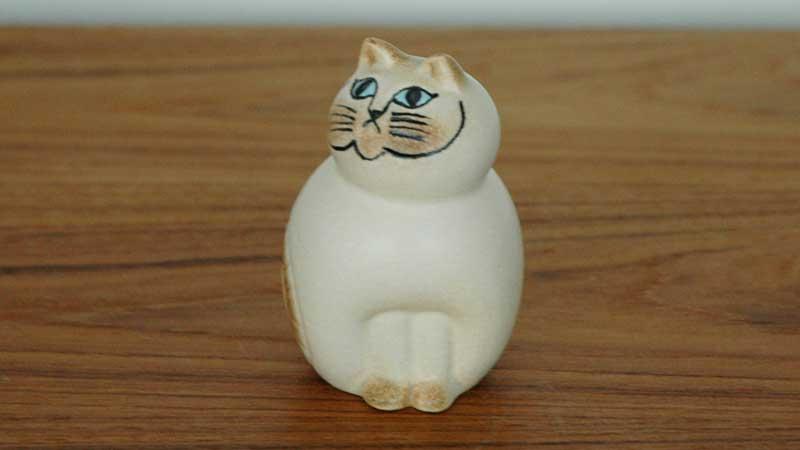 Lisa Larson,リサラーソン,mia,cat,ミニサイズ,ネコ,ホワイト