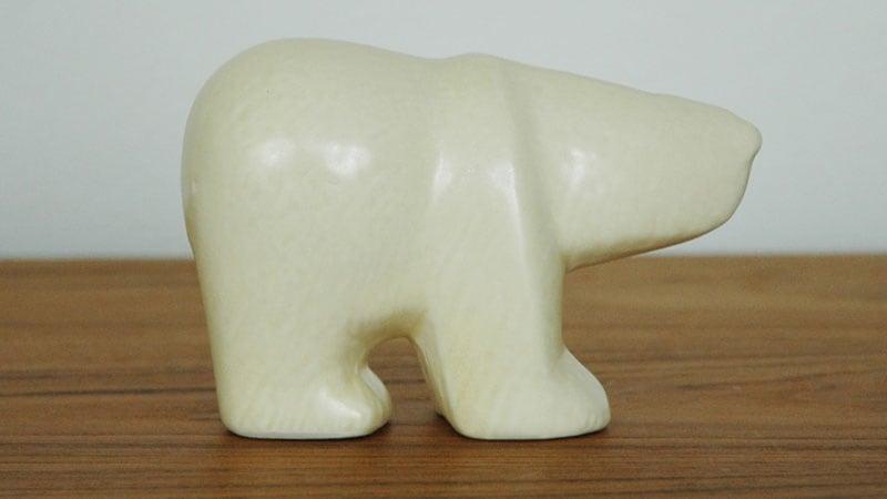 Lisa Larson(リサ・ラーソン),Polar Bear(シロクマ)のミニサイズ,LILLSKANSEN/スカンセン動物園