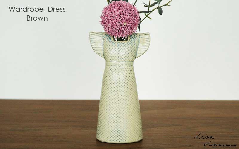 Wardobe Vases Dress,ワードローブ,ドレス,ブラウン,フラワーベース,Lisa Larson,リサラーソン,北欧,花瓶,フラワーベース,オブジェ,置物,北欧雑貨,北欧インテリア