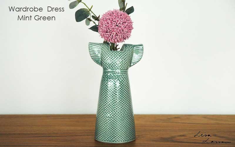 Wardobe Vases Dress,ワードローブ,ドレス,ミントグリーン,フラワーベース,Lisa Larson,リサラーソン,北欧,花瓶,フラワーベース,オブジェ,置物,北欧雑貨,北欧インテリア