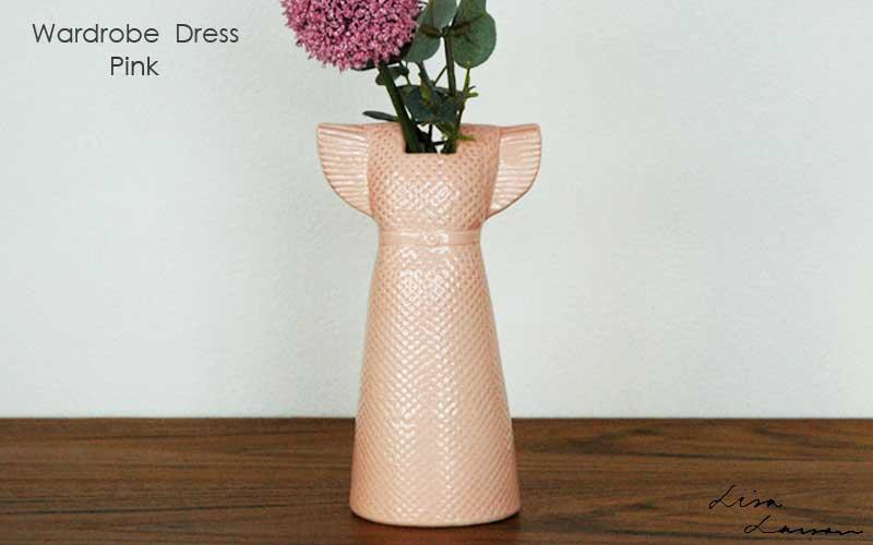 Wardobe Vases Dress,ワードローブ,ドレス,ピンク,フラワーベース,Lisa Larson,リサラーソン,北欧,花瓶,フラワーベース,オブジェ,置物,北欧雑貨,北欧インテリア