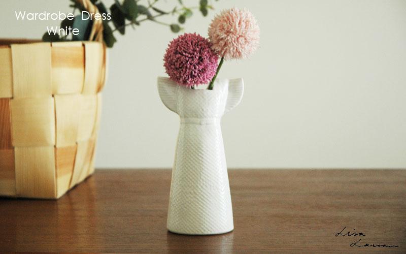 Wardobe Vases Dress,ワードローブ,ドレス,ホワイト,フラワーベース,Lisa Larson,リサラーソン,北欧,花瓶,フラワーベース,オブジェ,置物,北欧雑貨,北欧インテリア