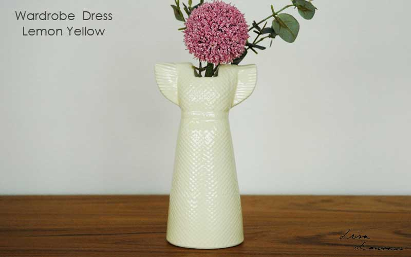 Wardobe Vases Dress,ワードローブ,ドレス,レモンイエロー,フラワーベース,Lisa Larson,リサラーソン,北欧,花瓶,フラワーベース,オブジェ,置物,北欧雑貨,北欧インテリア