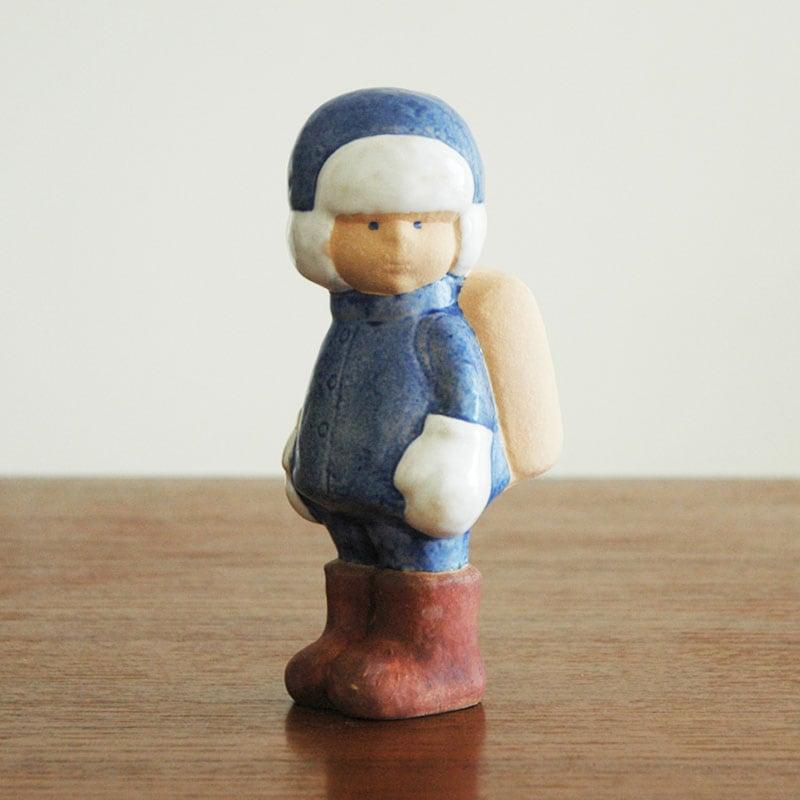 Schoolboyスクールボーイ,彫像,オブジェ,置物,Lisa Larson,リサラーソン,北欧,スウェーデン,子ども,北欧雑貨,北欧インテリア