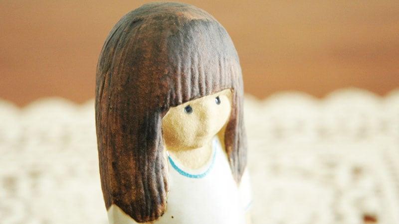 Lisa Larson,リサ・ラーソン,Lina(リナ)ブラックヘアのアップ