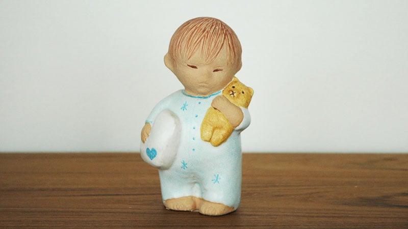 Boy with Bear blue,ボーイ・ウィズ・ベア,ブルー,男の子とクマ,Lisa Larson,リサ ラーソン,オブジェ,置物,北欧スウェーデン,北欧雑貨,北欧インテリア,北欧ギフト