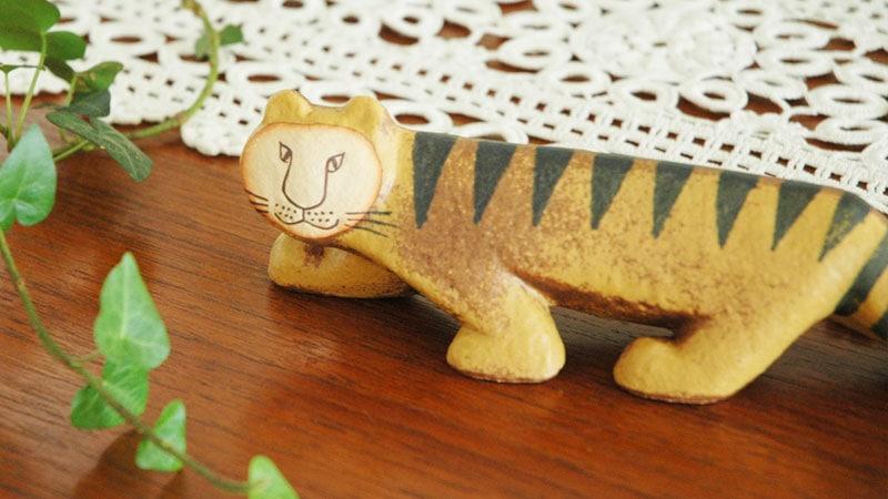 Tiger(タイガー)・トラ,Lisa Larson,リサ ラーソン,オブジェ,置物,北欧スウェーデン,北欧雑貨,北欧インテリア,北欧ギフト