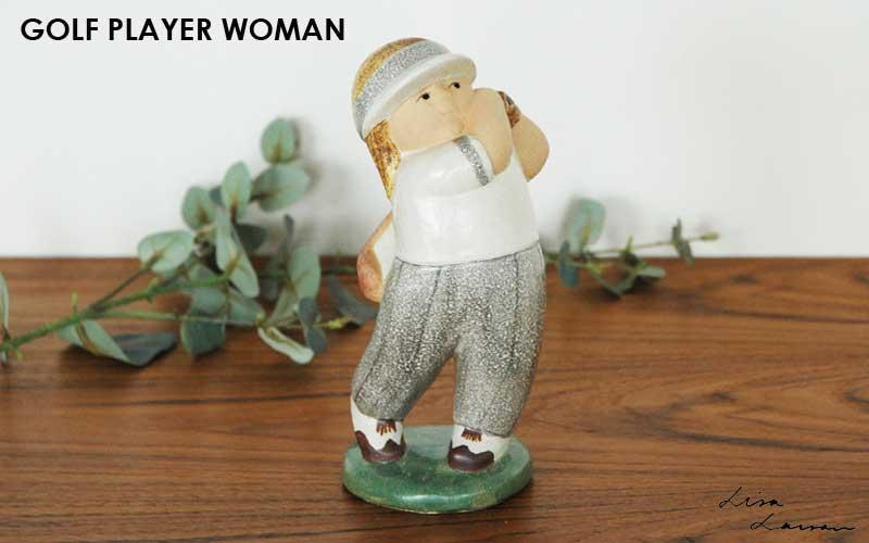 Golf Player Man(ゴルフプレーヤー・マン),Lisa Larson,リサ ラーソン,オブジェ,置物,北欧スウェーデン,北欧雑貨,北欧インテリア,北欧ギフト