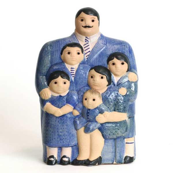family,ブルー,Lisa Larson,リサラーソン,オブジェ,置物