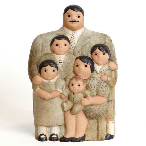 family,ブラウン,Lisa Larson,リサラーソン,オブジェ,置物