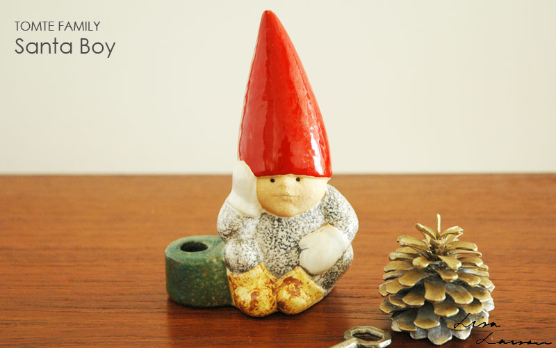 Santa Boy,サンタ・ボーイ,トムテファミリー,Lisa Larson,リサ ラーソン,オブジェ,置物,北欧スウェーデン,北欧雑貨,北欧インテリア,北欧ギフト