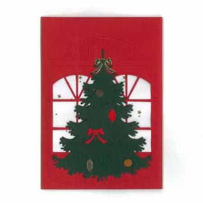 クリスマスカード,クリスマスツリー,Oda Wiedbrecht,オダ・ウィードブレクト,北欧デンマーク,ハンドメイドクラフト