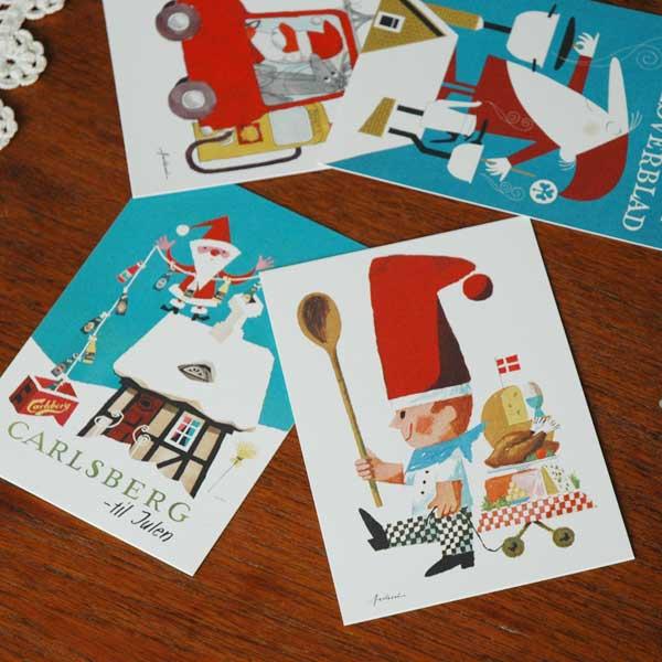 Ib Antoni (イブ・アントーニ) X'maspostcardクリスマスカード,,北欧デンマーク,ハンドメイドクラフト