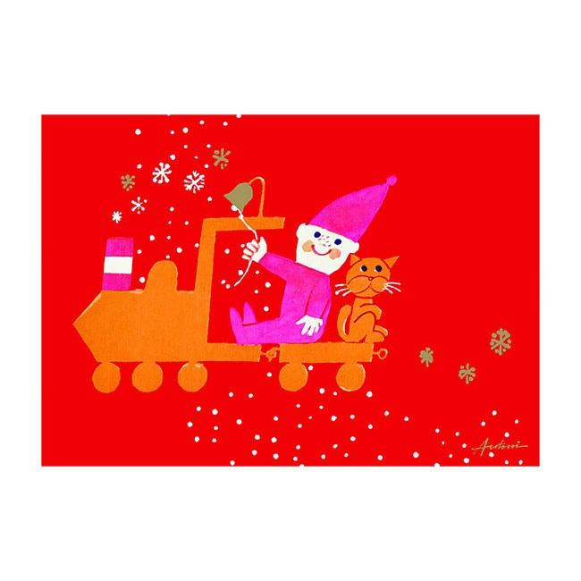 Ib Antoni (イブ・アントーニ) X'mascardクリスマスカード,トレイン,北欧デンマーク,ハンドメイドクラフト