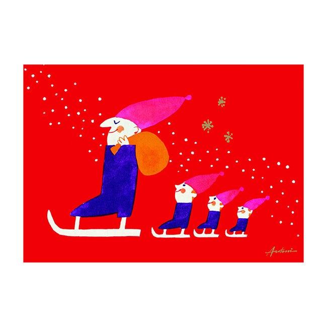 Ib Antoni (イブ・アントーニ) X'mascardクリスマスカード,スレッジ,北欧デンマーク,ハンドメイドクラフト
