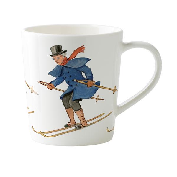 マグカップ,青おじさんのスキー