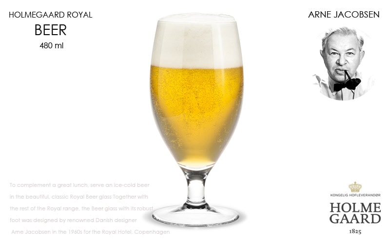 Royal white Wine Glass,ロイヤルビアグラス,HOLMEGAARD,ホルムガード,Arne Jacobsen(アルネヤコブセン),北欧雑貨,北欧インテリア北欧ギフト