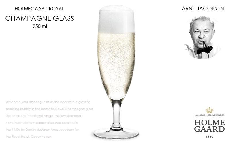 Royal Champagne Glass(ロイヤル・シャンパングラス),HOLMEGAARD,ホルムガード,Arne Jacobsen(アルネヤコブセン),北欧雑貨,北欧インテリア北欧ギフト