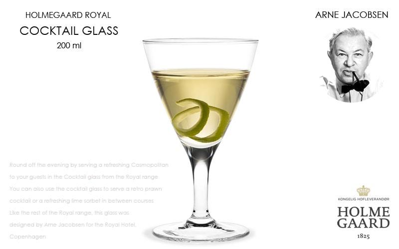 Royal Coktail Glass(ロイヤル・カクテルグラス),HOLMEGAARD,ホルムガード,Arne Jacobsen(アルネヤコブセン),北欧雑貨,北欧インテリア北欧ギフト