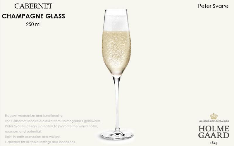 CABERNET(カベルネ)Champagne Glass(シャンパングラス)290ml ,HOLMEGAARD,ホルムガード,北欧雑貨,北欧インテリア北欧ギフト