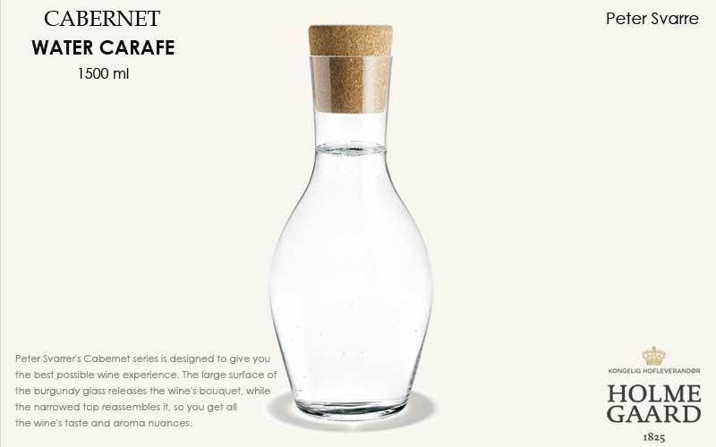 CABERNET(カベルネ)Water Carafe(ウォーターカラフェ)1500ml,HOLMEGAARD,ホルムガード,北欧雑貨,北欧インテリア北欧ギフト